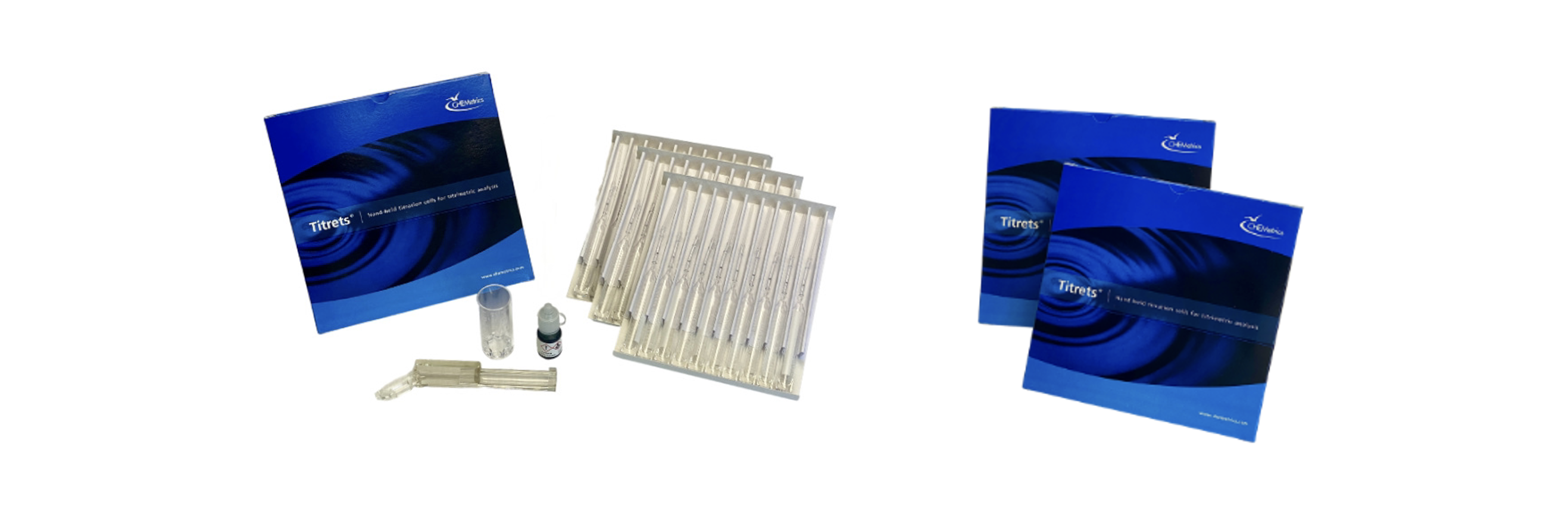 A banner image showing the Alkalinity Titrets Kit packaging and contents